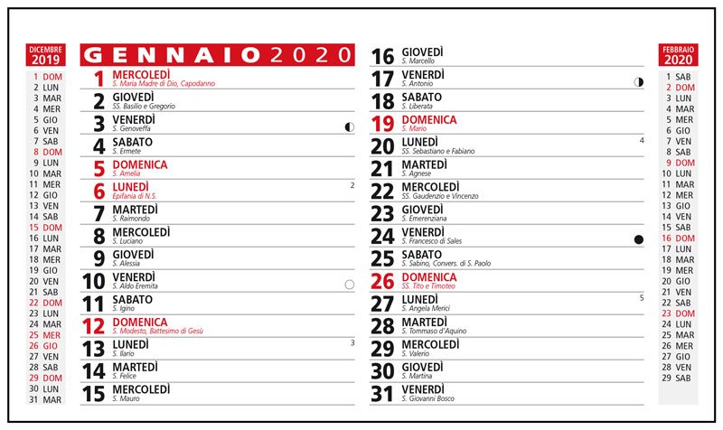 Calendario Tascabile 2020 Da Stampare.Calendario Personalizzato Da Scrivania Molto Economico