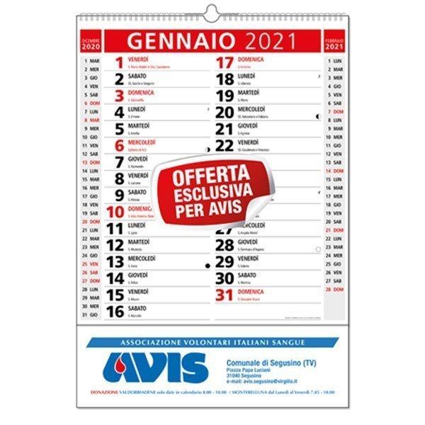 Rossi Sul Calendario.Calendari Olandesi Personalizzati Avis Rossi