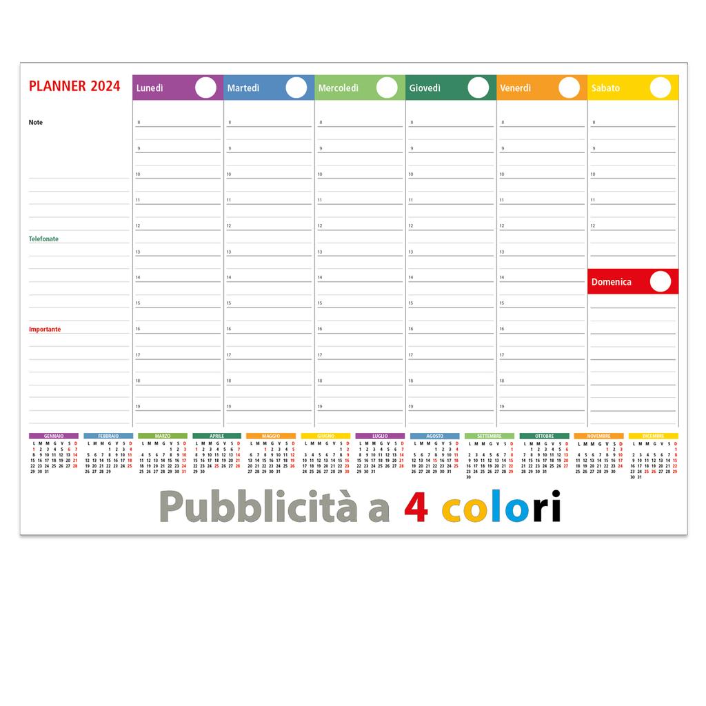 Calendario Con Foto Personali.Sottomano Settimanali Agende Tutto Personalizzato A 4 Colori